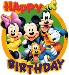 Mickey Mouse is a cartoon mouse character who usually wears the white gloves, red shorts and yellow shoes. Mickey Mouse became one of the most remarkable Disney Disney Happy Birthday Images, Happy Birthday Mickey Mouse, Birthday Wishes For Kids, Happy Birthday Wishes Cards, Happy Birthday Pictures, Happy Birthday Quotes, Birthday Signs, Disney Birthday Quotes, Birthday Cake