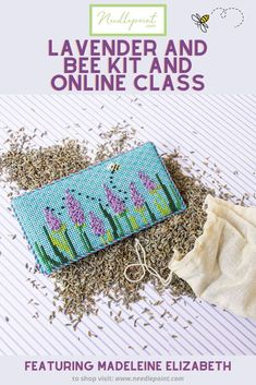 Needlepoint.Com is excited to share their Lavender and Bee online class in collaboration with Madeleine Elizabeth. This lovely canvas will never go out of style. It's the perfect project to stitch and display in your home all year long!  • #needlepoint #needlepointclass #needlepointkit #newneedlepoint #needlepointfun #ndlpt #MadeleineElizabeth #needlepointdotcom
