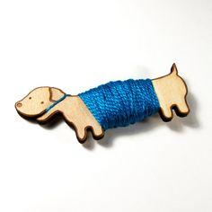 Darling little doxie thread holder.