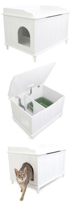 Modern kitty litter box- for when I finally have a kitty. #catsdiyfurniture
