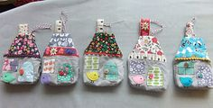 I Love Buttons By Emma: Fabric Houses
