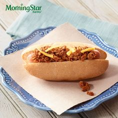 Here's what you get when you want the classic taste of chili dog, but want to keep it meatless. Loaded with flavor, but with a veggie twist that makes it Deliciously Uncomplicated. #Vegetarian #Protein #Recipe #Chilidog