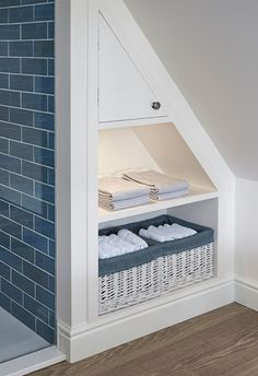 Badezimmerideen Attic Bathroom Ideas Dormer Windows Best Way To Tackle Cleaning Do Attic Shower, Small Attic Bathroom, Loft Bathroom, Upstairs Bathrooms, Laundry In Bathroom, Bathroom Storage, Understairs Bathroom, Bathroom Plumbing, Small Bathrooms