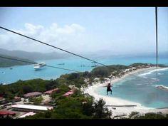 ▶ Dragon's Breath Zip Line (world's longest zip line over water) Labadee, Haiti - YouTube