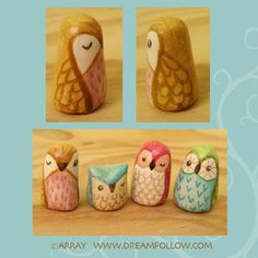 paper clay owls - too cute!  ... it's like I can feel a new obsession starting.  Not good.