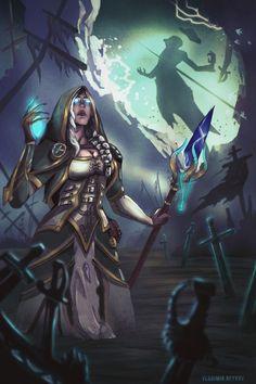 Jaina Proudmoore, Daughter of the Sea by Vladimir Beykov Illustrator, Concept Artist Warcraft Art, World Of Warcraft, Jaina Proudmoore, Fantasy Characters, Fictional Characters, My Favorite Image, Digital Illustration, Character Design, Creatures