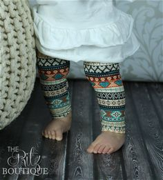 SALEPrint leggings Aztec legging by TheRitzBoutique on Etsy, $6.99