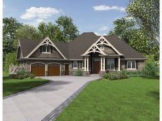 ePlans Craftsman House Plan – Handsome Craftsman Ranch With Great Outdoor Space – 2233 Square Feet and 3 Bedrooms from ePlans – House Plan C...