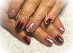 CND Shellac in Garnet Glamour and Blushing Topaz from the Starstruck Collection