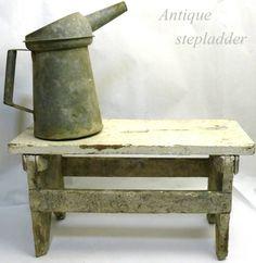 Stepladder 14a 6 001アンティーク雑貨木製ビンテージ脚立 土台 インテリア 家具 Antique ¥6840yen 〆07月01日