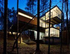 Sloped Terrain House by Freelon Group