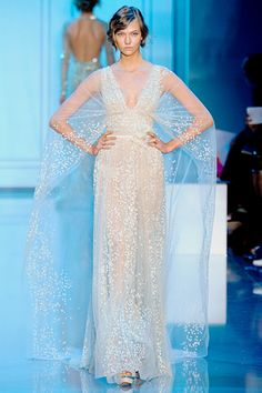 Elie Saab Couture Fall 11. The tulle is flecked in velvet and sequins. Definitely would have made an incredible wedding dress