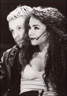 "Adam Pascal and Daphne Rubin-Vega in ""Rent"" Saw Adam, Daphne, Idina, Taye and the entire OBC with @Lynn Cook"