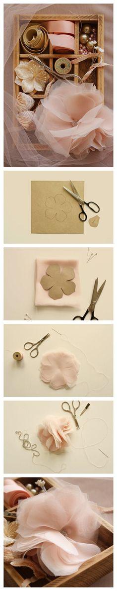 Flower tissu