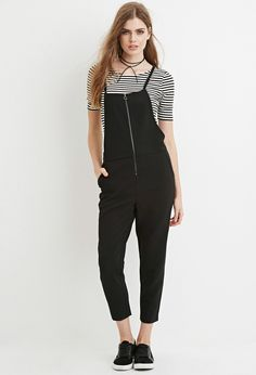 Contemporary Crisscross-Back Zipped Jumpsuit