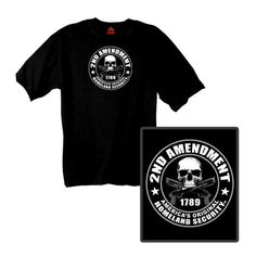 2nd Amendment Short Sleeve T-shirt with Skull