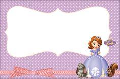 Princesinha Sofia da Disney - Kit Completo com molduras para convites, rótulos…