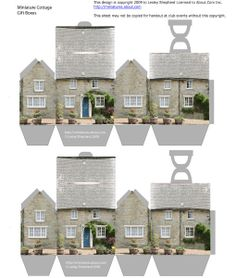 Free Dollhouse Printables | Free printable sheet of stone cottage boxes for summer treats ...