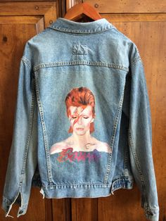 Handpainted David Bowie Jacket by PeaceLoveSoul on Etsy