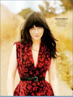 """zoey deschanel. """"I have never wanted to dress like anyone in particular. I like to express myself in my own way."""""""