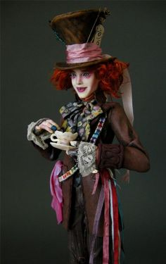 Johnny Depp as the Mad Hatter doll - by Nicole West Fantasy Art