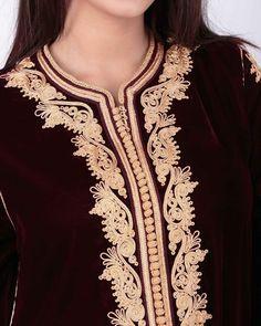 Abaya Fashion, Diy Fashion, Womens Fashion, Bead Embroidery Patterns, Stylish Blouse Design, Moroccan Caftan, Caftan Dress, Antique Clothing, Indian Dresses