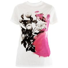 Christopher Kane Circle print T-shirt ($233) ❤ liked on Polyvore