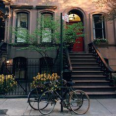 by Jacob Santiago, Brownstone, New York City jacobsantiago's photo on Instagram