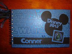 Personalized Disney Autograph Book- Mickey Star Wars. $40.00, via Etsy.