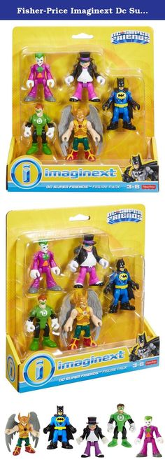 Fisher-Price Imaginext Dc Super Friends Heroes & Villains Pack. Creating adventures between these DC Super Friends Super Heroes and villains is an exciting way for kids to get in on the crime-fighting action and activate their greatest super power - imagination! This pack includes 5 all-time favorites: Batman, The Joker, The Penguin, Hawkman and Green Lantern figures.