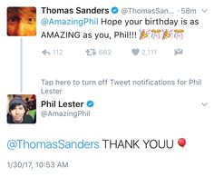 phil is 30 o.0 << two rays of sunshine conversing this is a RARE MOMENT