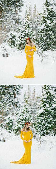 snow maternity, Utah Maternity Photographer, maternity gowns, winter maternity, Beka Price Photography