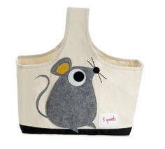 3 Sprouts Storage Caddy, Mouse -   - http://homesegment.com/home-kitchen/kids-home-store/nursery-decor/3-sprouts-storage-caddy-mouse-com/