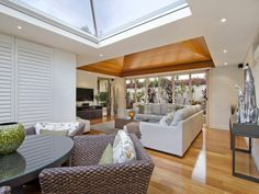 Featuring glass as well as timber in the ceiling