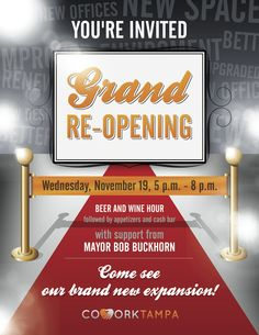 CoWorkTampa's Grand Re-Opening