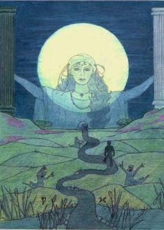 Lindmara Tarot: The Moon (c) Linda Gravill