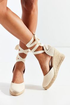 Slide View: 5: Soludos Linen Espadrille Tall Wedge Sandal