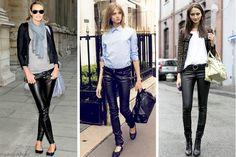 Deri Pantolon Kombinleri #deri #kombin http://www.enguzelkombinler.com/deri-pantolon-kombinleri/