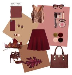 """Marsala love"" by corazonortiz ❤ liked on Polyvore featuring Aquazzura, Charlotte Tilbury, Thierry Lasry, Vince Camuto, Eddie Borgo and Nails Inc."