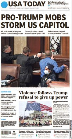 Capitol Insurrection: 26 Front Pages From Around The World - Worldcrunch