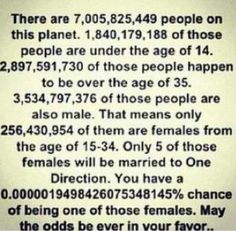 AND MAY THE ODDS BE EVER IN YOUR FAVOR , except for Harry, Niall, Zayn, Louis, Liam. one of you are MINE!