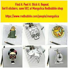 mangulica is an independent artist creating amazing designs for great products such as t-shirts, stickers, posters, and phone cases. Crazy Home, Sticker Shop, Skateboards, Art For Sale, Notebooks, Repeat, Laptops, Art Deco, Artists