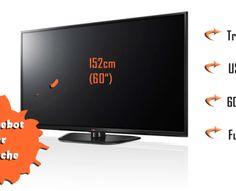 [@notebooksbilliger.de] LG 60PN6506 152cm (60″) Plasma-TV -Full-HD, 600 Hz, Triple Tuner, CI+ — für 666,00€