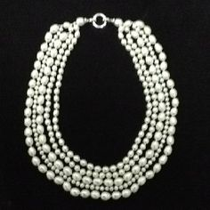 Waccamaw Pearls- 5 strand necklace for $450 Strand Necklace, Pearl Necklace, Southern Belle, Classy Women, Wardrobe Staples, Gems, Jewels, My Favorite Things, Pretty