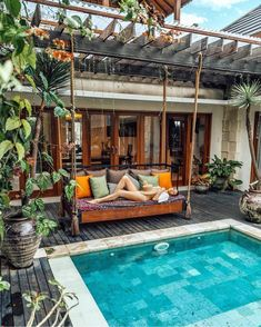 TRAVEL Swim Resort Bali – Villa Ariana Grande How to Play Texas Holdem Texas Holdem has become such Small Swimming Pools, Small Backyard Pools, Backyard Pool Designs, Small Pools, Swimming Pools Backyard, Swimming Pool Designs, Backyard Patio, Villa Design, Design Design
