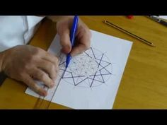How to draw an Islamic geometric pattern: Ayyubid Star. - YouTube