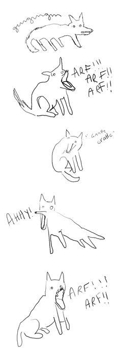 chiens par Catherine Arsenault