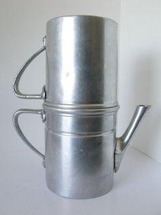 Vintage Neapolitan Espresso Flip Coffee Maker, Napoletana