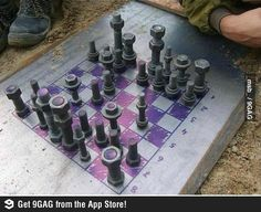 Nuts and bolts chess set.