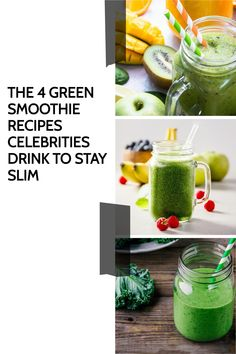 I'm so excited to share the secret green smoothie recipes celebrities are drinking to stay slim. These recipes will help you get the same kind of results. Green Smoothie Cleanse, Green Detox Smoothie, Green Smoothie Recipes, Green Smoothies, Smoothie Diet, Healthy Smoothies, Healthy Food, Healthy Recipes, Detox Recipes